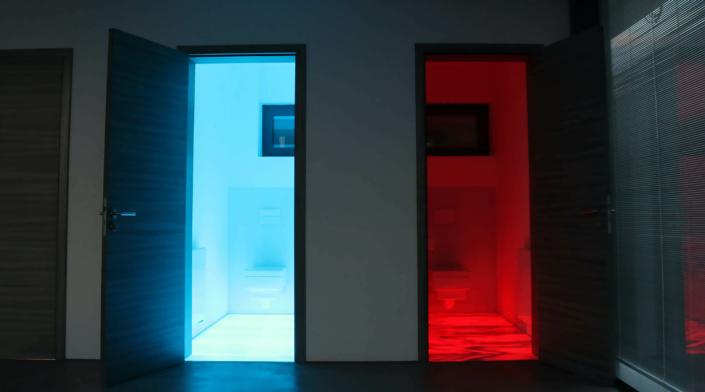 LED-Bodenbeleuchtung im Sanitärbereich