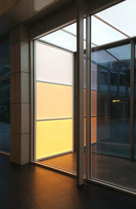 LED-Wandbeleuchtung mit Farbeffekt
