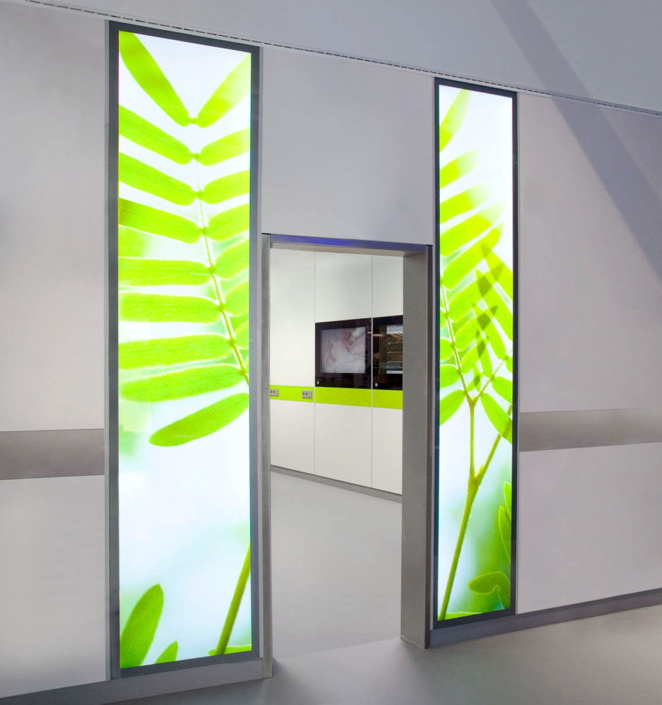 LED-Wandbeleuchtung mit Natur-Motiv